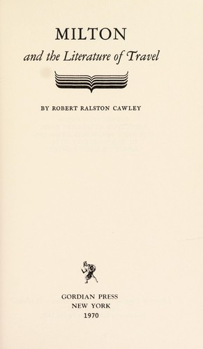 Download Milton and the literature of travel.