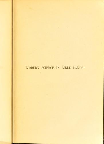 Download Modern science in Bible lands