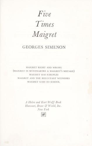 georges simenon maigret
