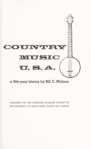 Country music U.S.A.; a fifty-year history