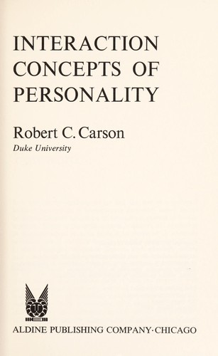Interaction concepts of personality