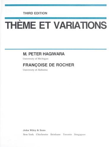 Download Thème et variations