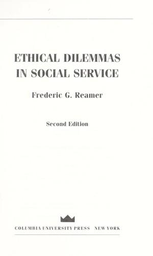 Ethical dilemmas in social service