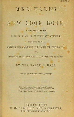 Download Mrs. Hale's new cook book.