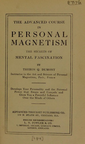 Download The advanced course in personal magnetism