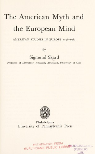 The American myth and the European mind