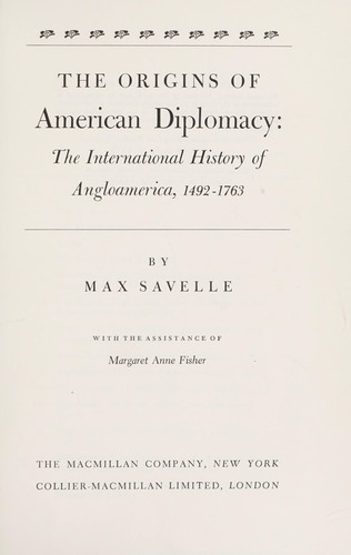 The origins of American diplomacy