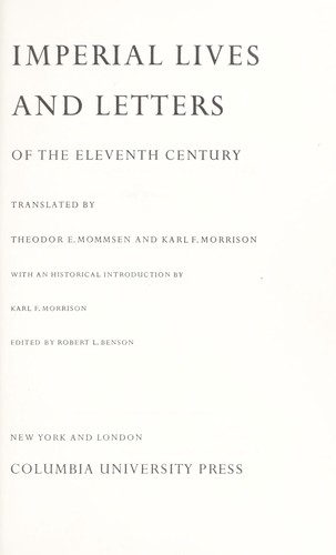 Download Imperial lives and letters of the eleventh century.