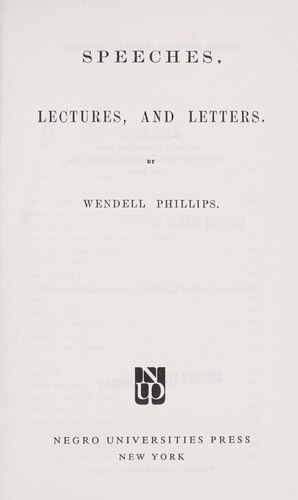Speeches, lectures, and letters.