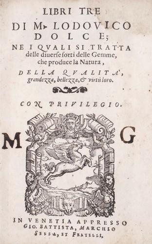 Libri tre di m. Lodovico Dolce