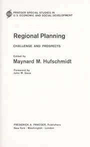 Regional planning; challenge and prospects