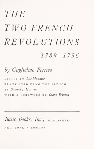 The two French revolutions, 1789-1796.