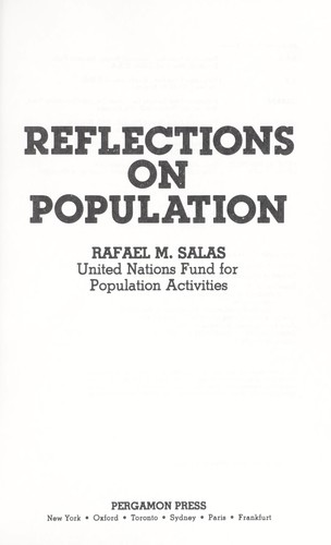 Reflections on population