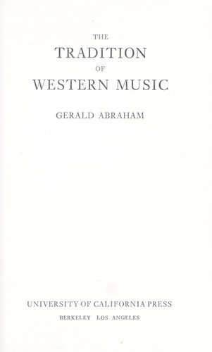 The tradition of Western music