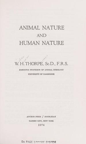 Animal nature and human nature