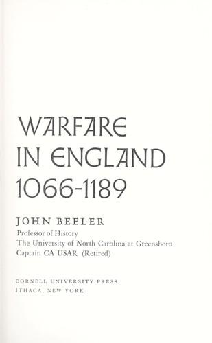Download Warfare in England, 1066-1189.