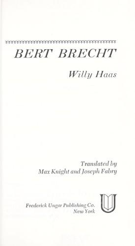 Bert Brecht.