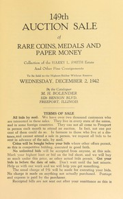 149th auction sale of rare coins, medals, and paper money