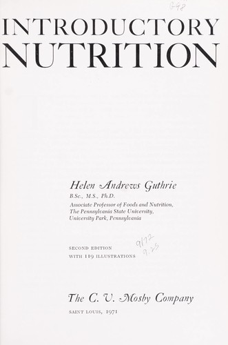 Introductory nutrition.