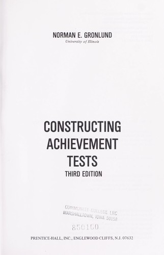 Download Constructing achievement tests