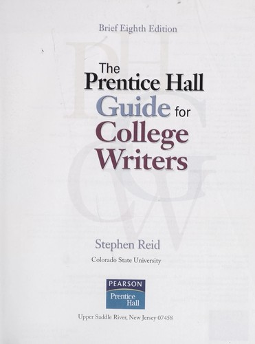 Download The Prentice Hall guide for college writers