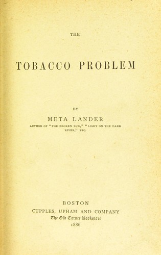 Download The tobacco problem