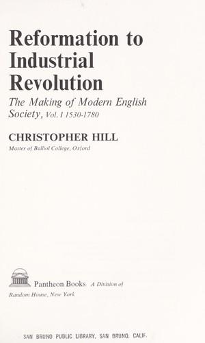 Reformation to Industrial Revolution
