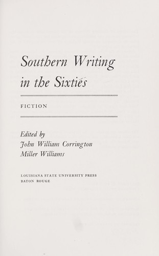 Southern writing in the sixties