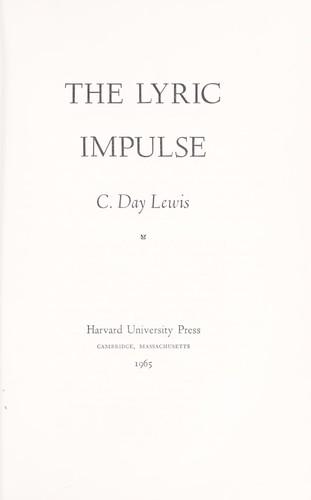 The lyric impulse