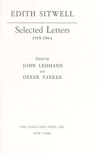 Download Selected letters, 1919-1964.