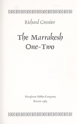 The Marrakesh one-two