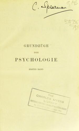 Grundzüge der Psychologie