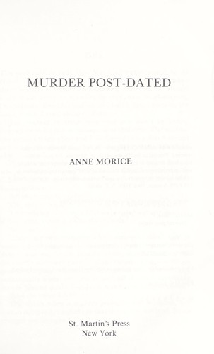 Murder post-dated