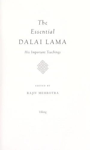 Download Essential Dalai lama