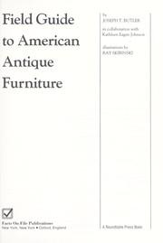 Field guide to American antique furniture
