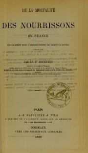 De la mortalit©♭ des nourrissons en France