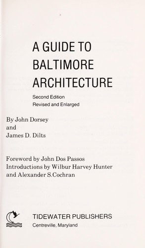 Download A guide to Baltimore architecture