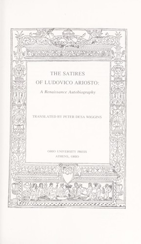 Download The satires of Ludovico Ariosto