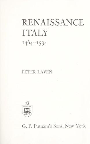 Renaissance Italy, 1464-1534.