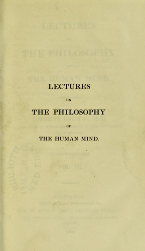 Download Lectures on the philosophy of the human mind
