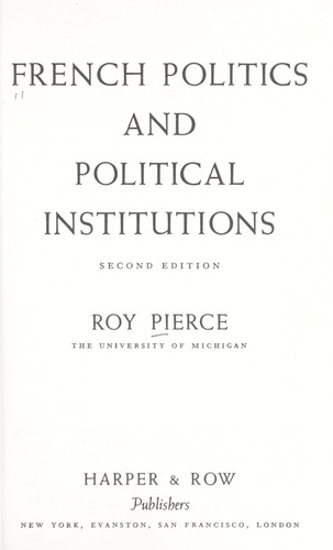 Download French politics and political institutions.