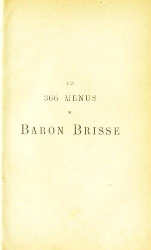 Download Les 366 menus du baron Brisse