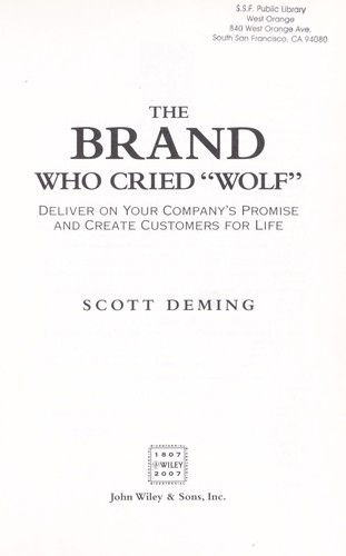 Download The brand who cried wolf