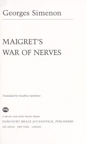 Download Maigret's war of nerves