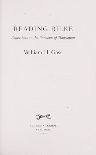 Download Reading Rilke