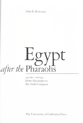 Download Egypt after the pharaohs 332 BC-AD 642