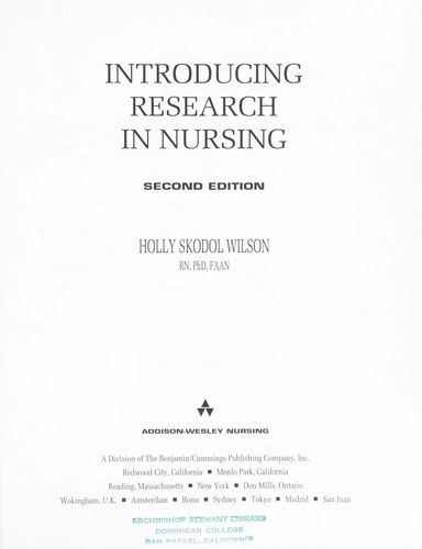 Download Introducing research in nursing