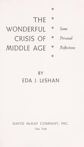 Download The wonderful crisis of middle age