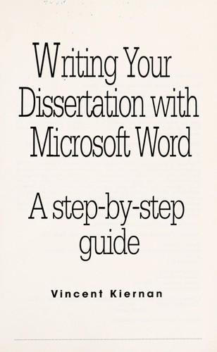 Download Writing your dissertation with Microsoft Word