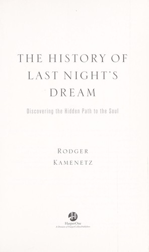 The History of Last Night's Dream